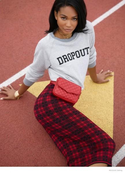 Chanel Iman & Barbara Palvin For Revolve Clothing's Fall 2014 Campaign 12