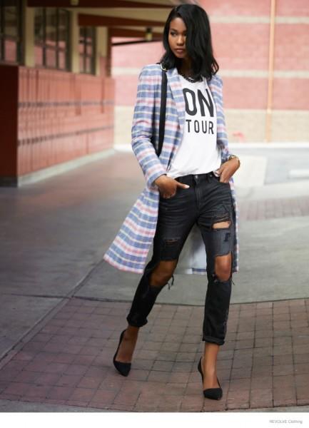 Chanel Iman & Barbara Palvin For Revolve Clothing's Fall 2014 Campaign 5