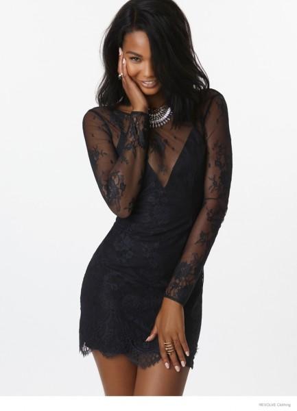 Chanel Iman & Barbara Palvin For Revolve Clothing's Fall 2014 Campaign 6