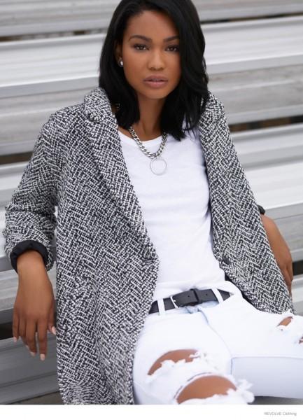 Chanel Iman & Barbara Palvin For Revolve Clothing's Fall 2014 Campaign 7