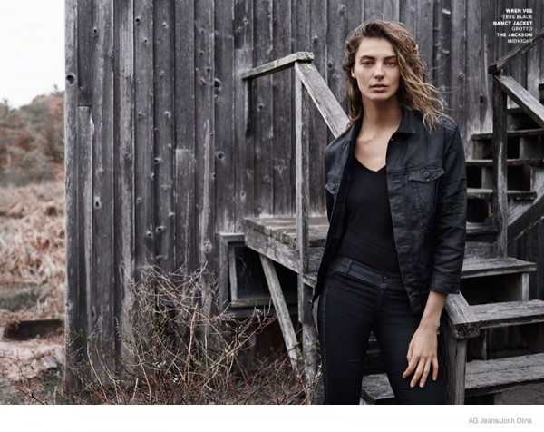 Daria Werbowy For AG Jeans Fall Winter 2014 Ad Campaig