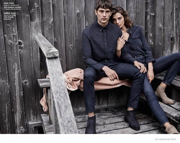 Daria Werbowy For AG Jeans Fall Winter 2014 Ad Campaign5