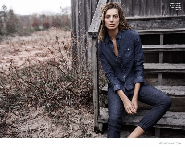 Daria Werbowy For AG Jeans Fall Winter 2014 Ad Campaign7