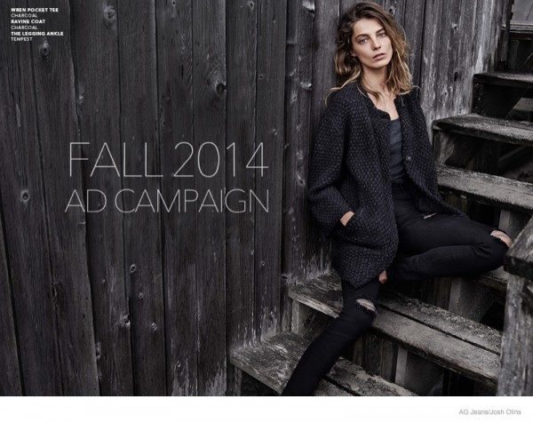 Daria Werbowy For AG Jeans Fall Winter 2014 Ad Campaign8