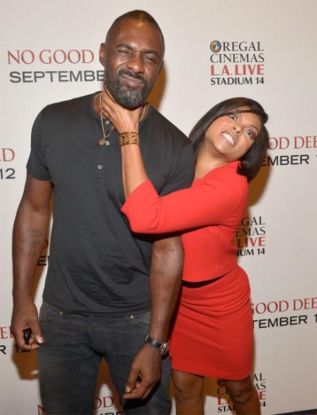 Idris Elba & Taraji P. Henson At 'No Good Deed' L.A. Screening1