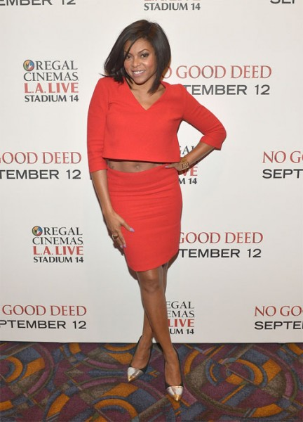 Idris Elba & Taraji P. Henson At 'No Good Deed' L.A. Screening4