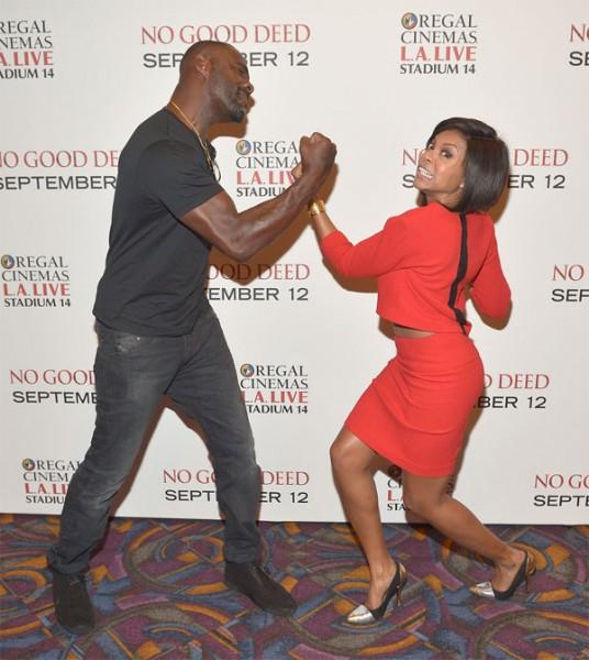 Idris Elba & Taraji P. Henson At 'No Good Deed' L.A. Screening5