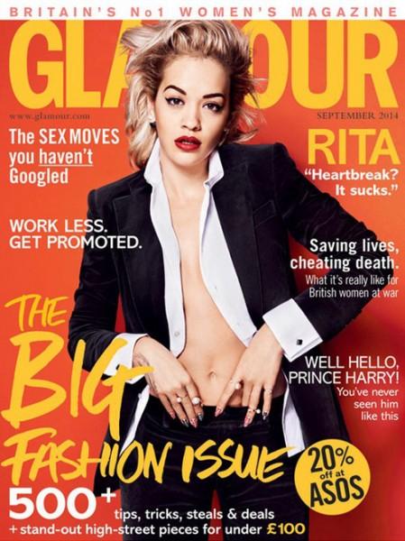Rita Ora For Glamour UK September 2014 Issue1