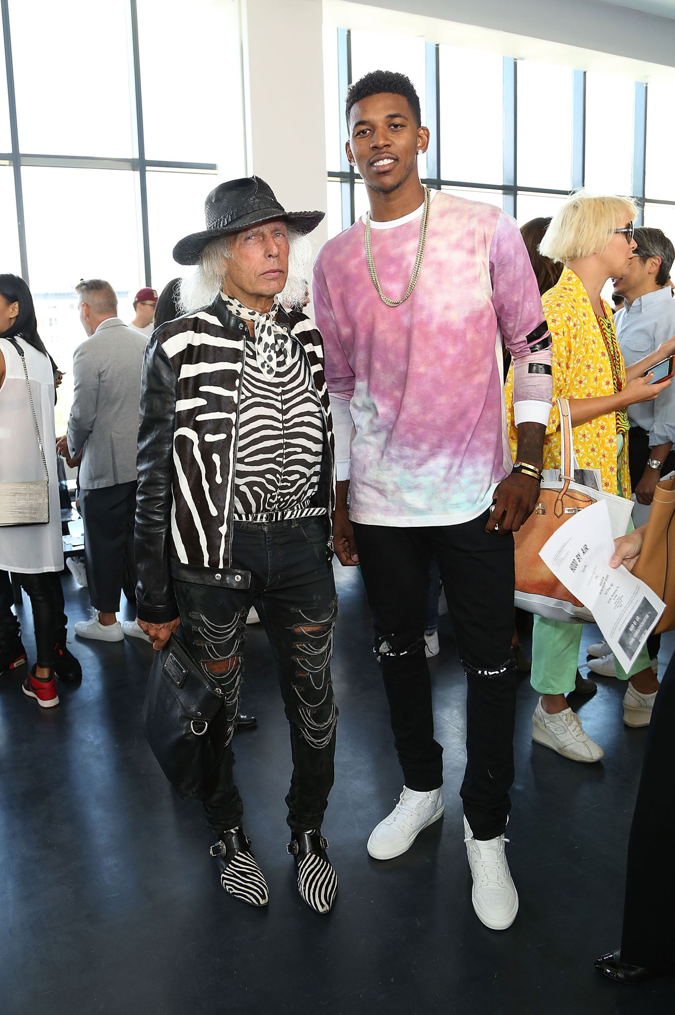 9b8feecab578 Nick Young And J.R. Smith Attend Hood By Air Show In Clothing From ...