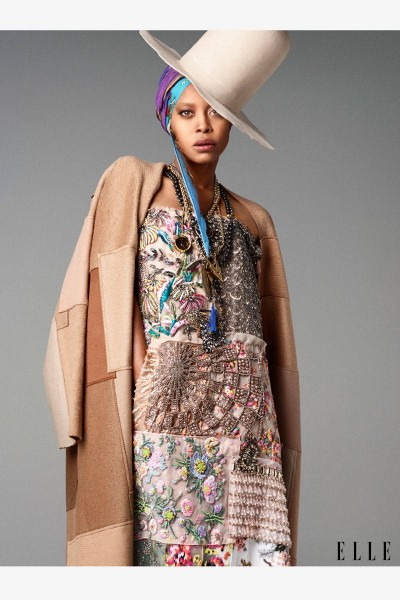 Erykah Badu For ELLE October 2014 Issue