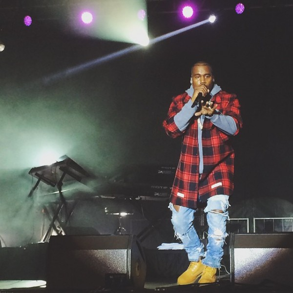 Kanye West Wears A $588 Off-White CO Virgil Abloh Red Plaid Shirt3