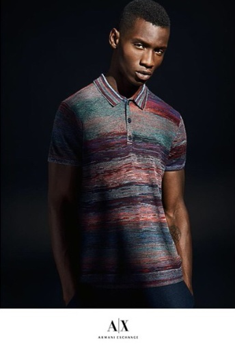 Model Adonis Bosso Stars In Armani Exchange Editorial 2
