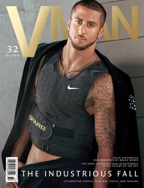 NFL Player Colin Kaepernick Covers VMAN's Fall Winter Issue