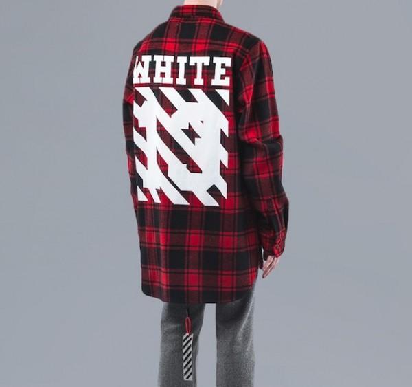 Off-White C O Virgil Abloh Red Plaid Shirt2