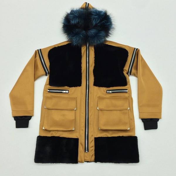 Astrid Andersen Mink Fur & Neoprene Coat1