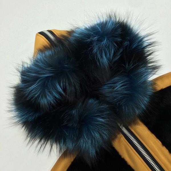 Astrid Andersen Mink Fur & Neoprene Coat3