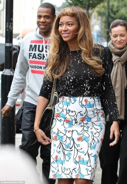 London Town Beyoncé & Jay Z Out & About 5
