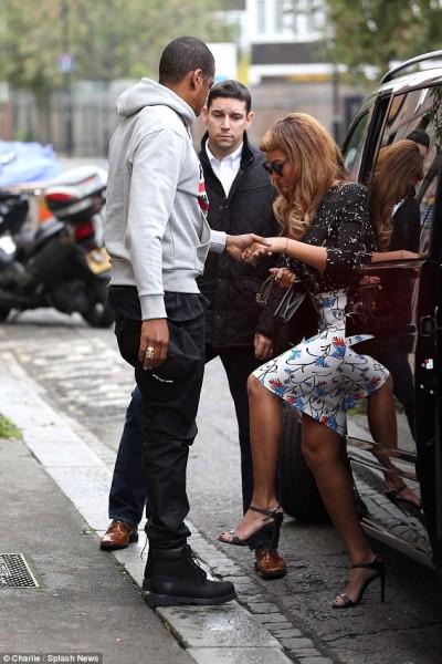 London Town Beyoncé & Jay Z Out & About 7