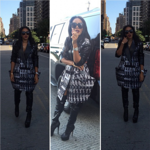 f2a316915ac Cute For Less  Angela Simmons Wears An  85 Crave Boutique Crochet ...