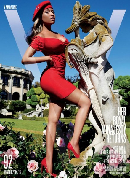 Nicki Minaj Is The Face Of V Magazine's Nov Dec Winter Issue1
