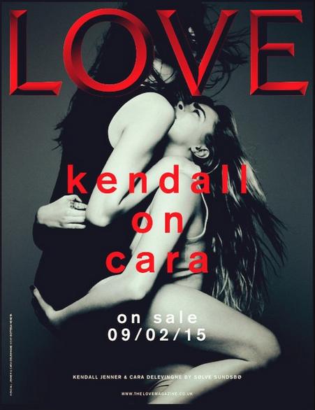 Cara Delevingne & Kendall Jenner For Love Magazine By Sølve Sundsbø