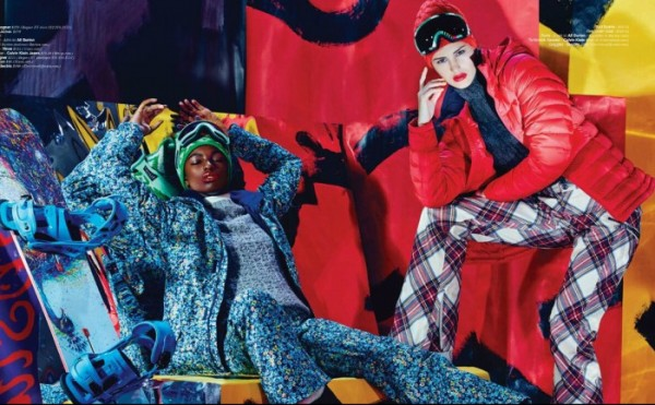 Maud Bourek, Rachel Fox, Leomie Anderson & Galaxia Lorenzo by Dennis Leupold for Jones Magazine Winter 2014 1