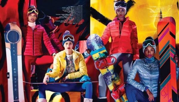 Maud Bourek, Rachel Fox, Leomie Anderson & Galaxia Lorenzo by Dennis Leupold for Jones Magazine Winter 2014 4