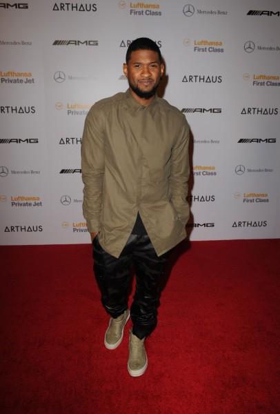 Usher Styles A Helmut Lang Storm Flap Shirt & Rick Owens Island Dunk Sneakers1