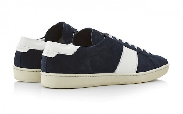 saint laurent suede and leather sneakers