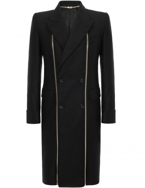 Alexander-Mcqueen-black-double-breasted-gold-zip-coat
