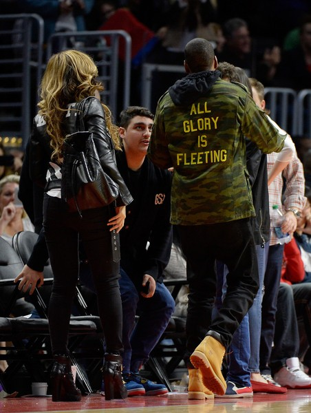 Beyoncé  At The Clippers Vs Nets Game4