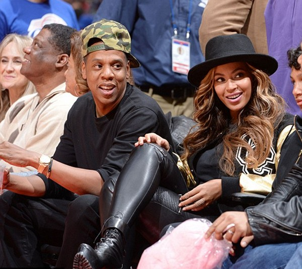 Beyoncé & Jay-Z At The Clippers Vs. Cavs Game 4