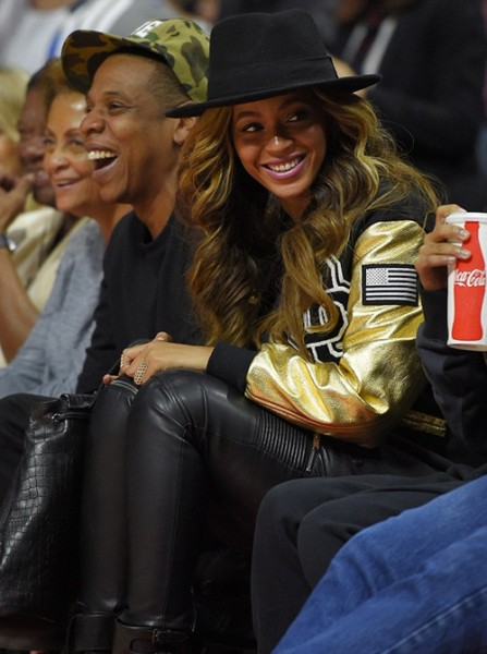 Beyoncé & Jay-Z At The Clippers Vs. Cavs Game 6
