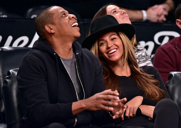 Beyoncé & Jay-Z Attend The Rockets VS. Nets Game 1