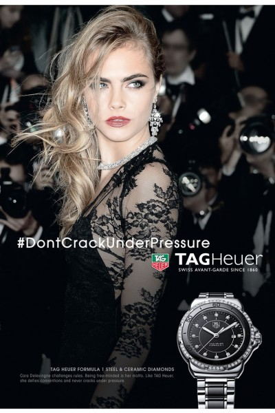 Cara Delevingne to Front Tag Heuer Ads1