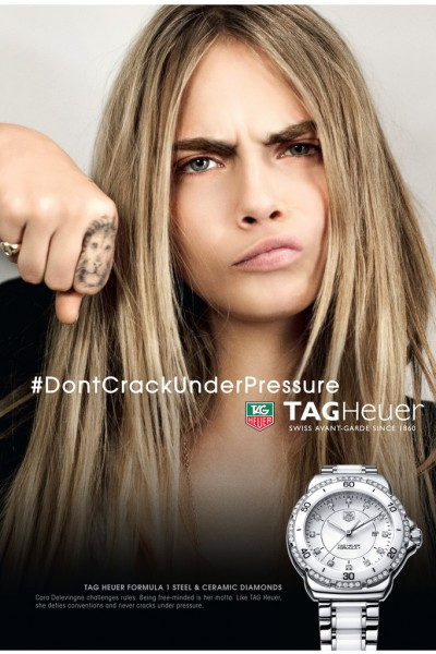 Cara Delevingne to Front Tag Heuer Ads2