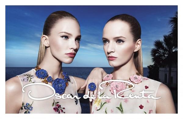 Daria Strokous And Sasha Luss For Oscar de la Renta's Spring 2015 Campaign 1