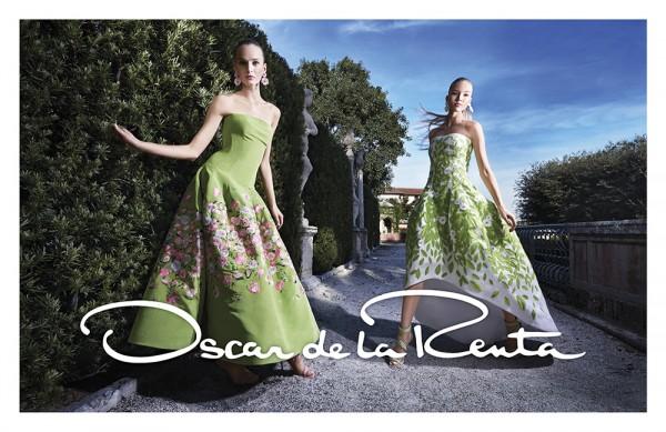 Daria Strokous And Sasha Luss For Oscar de la Renta's Spring 2015 Campaign 2