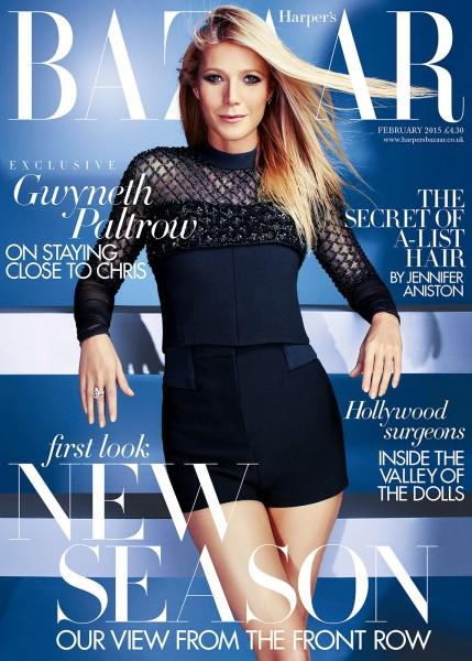 Gwyneth Paltrow  For Harper's Bazaar UK February 2015 Issue4
