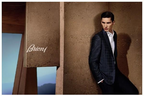 Model Dominik Bauer For Brioni Spring 2015 Ad Campaign 1