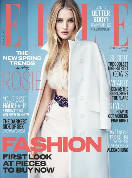 Rosie Huntington-Whiteley by Kai Z Feng for ELLE Magazine UK February 2015 1