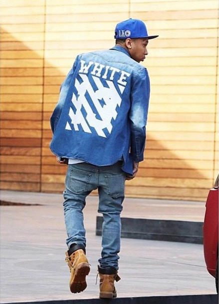 Celebs Spotted Styling In The Limelight: Victor Cruz, Tyga