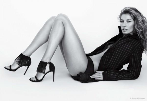 Gisele Bundchen For Stuart Weitzman's Spring Summer 2015 Ad Campaign 1