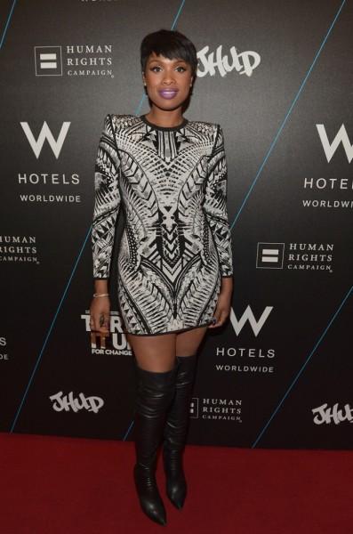 Jennifer Hudson Styles In A Balmain Tribal Jacquard Mini Dress1