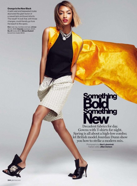 Jourdan Dunn For Glamour Magazine's March 2015 Issue