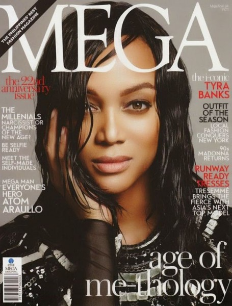 Tyra Banks Covers The February 2015 Issue Of MEGA Magazine 1