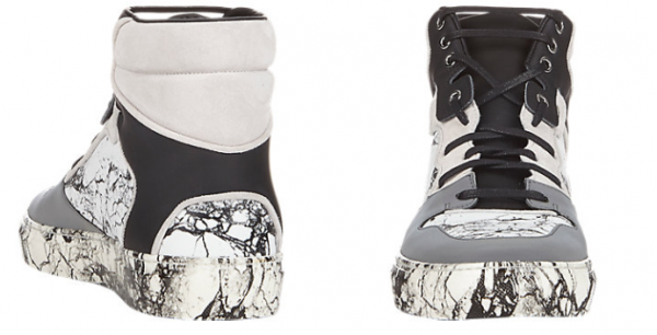 Balenciaga Marble-Print High-Top Sneakers1