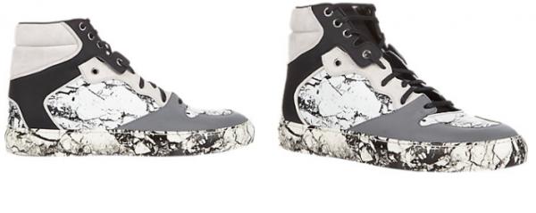 Balenciaga Marble-Print High-Top Sneakers2