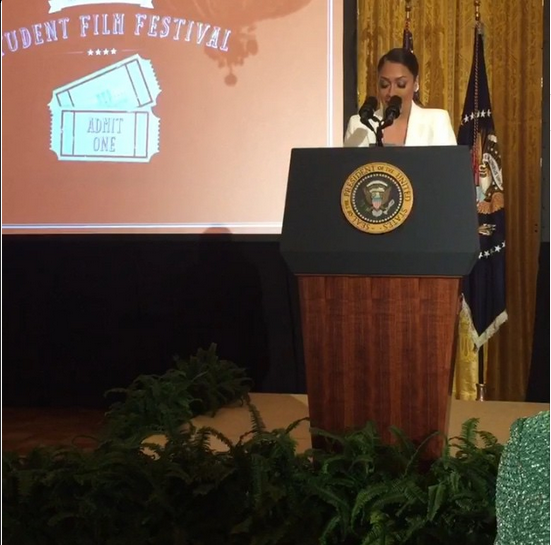 LaLa Anthony, Terrence J, Angela Simmons, Michael Ealy & More Join President Obama At The White House Film Festival 11
