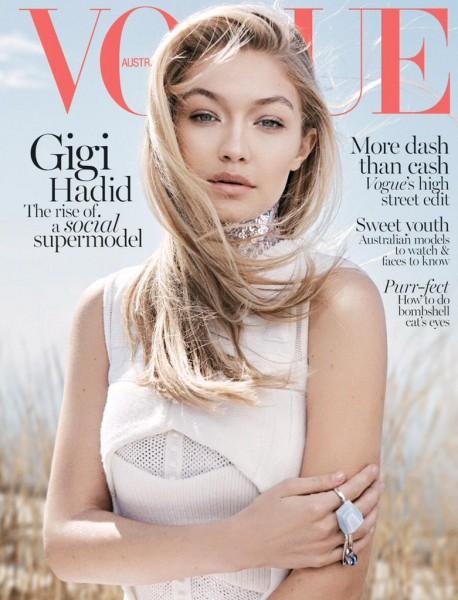 Gigi Hadid Covers The June 2015 Issue Of Vogue Australia1